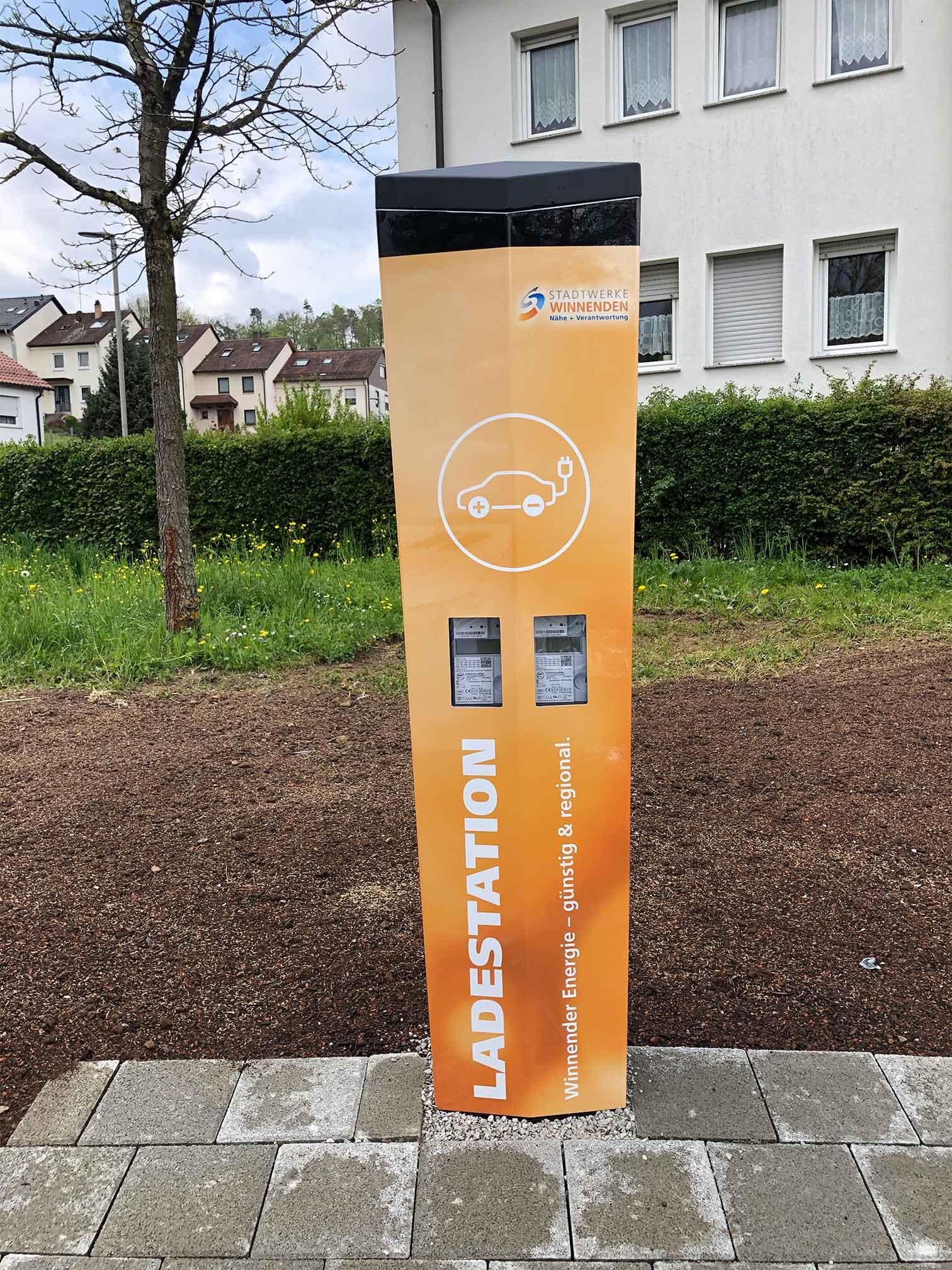 Stadtwerke Winnenden: Ladesäule Theodor-Heuss-Platz