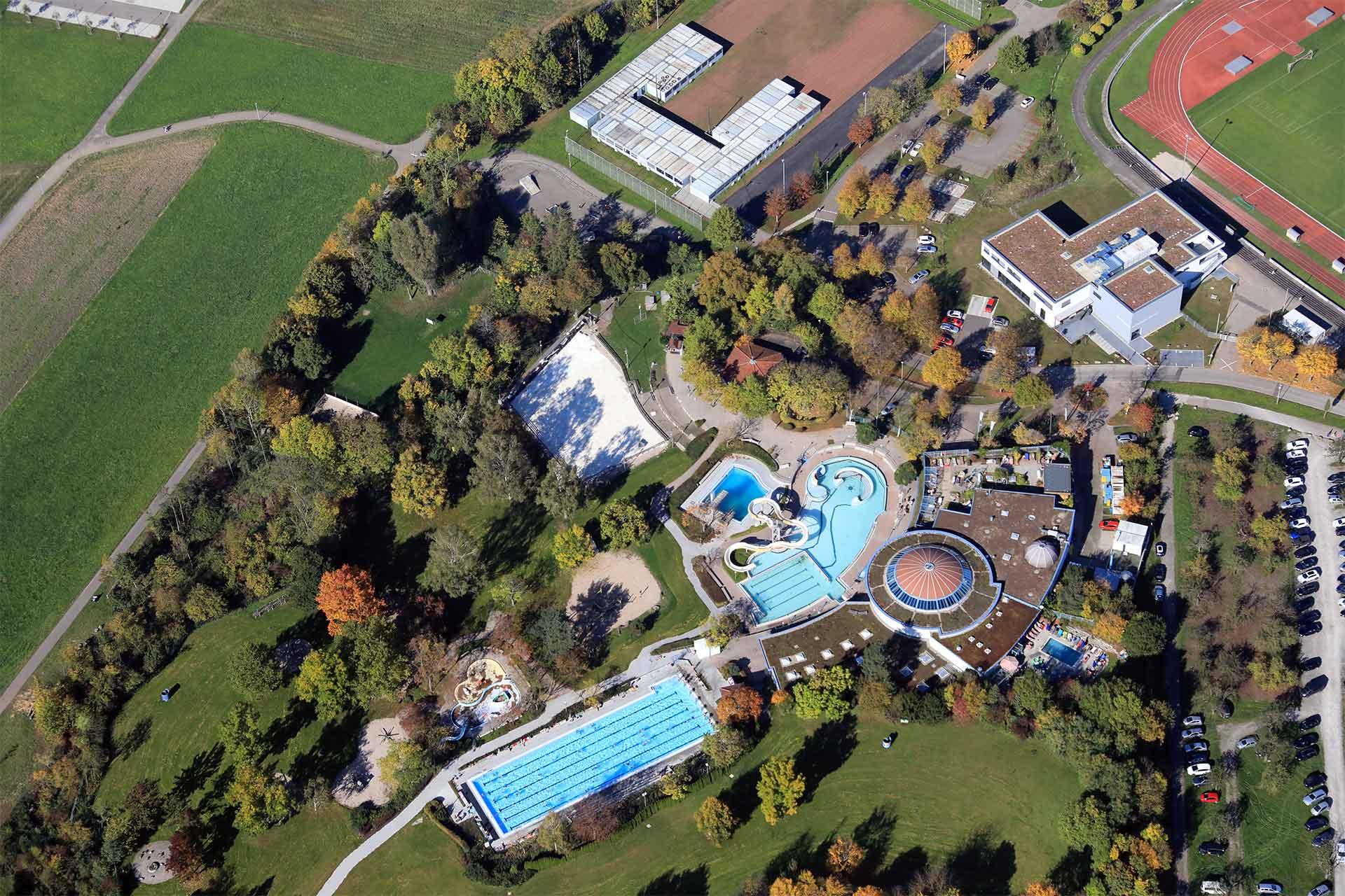 Stadtwerke Winnenden: Regionaler Energieversorger Wunnebad Luftaufnahme