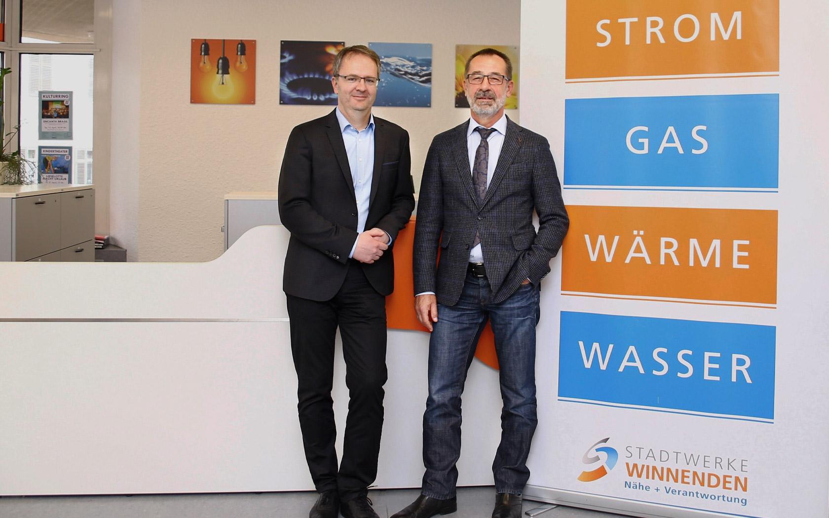 Stadtwerke Winnenden: Unternehmen Herr Mulfinger, Herr Schwarz