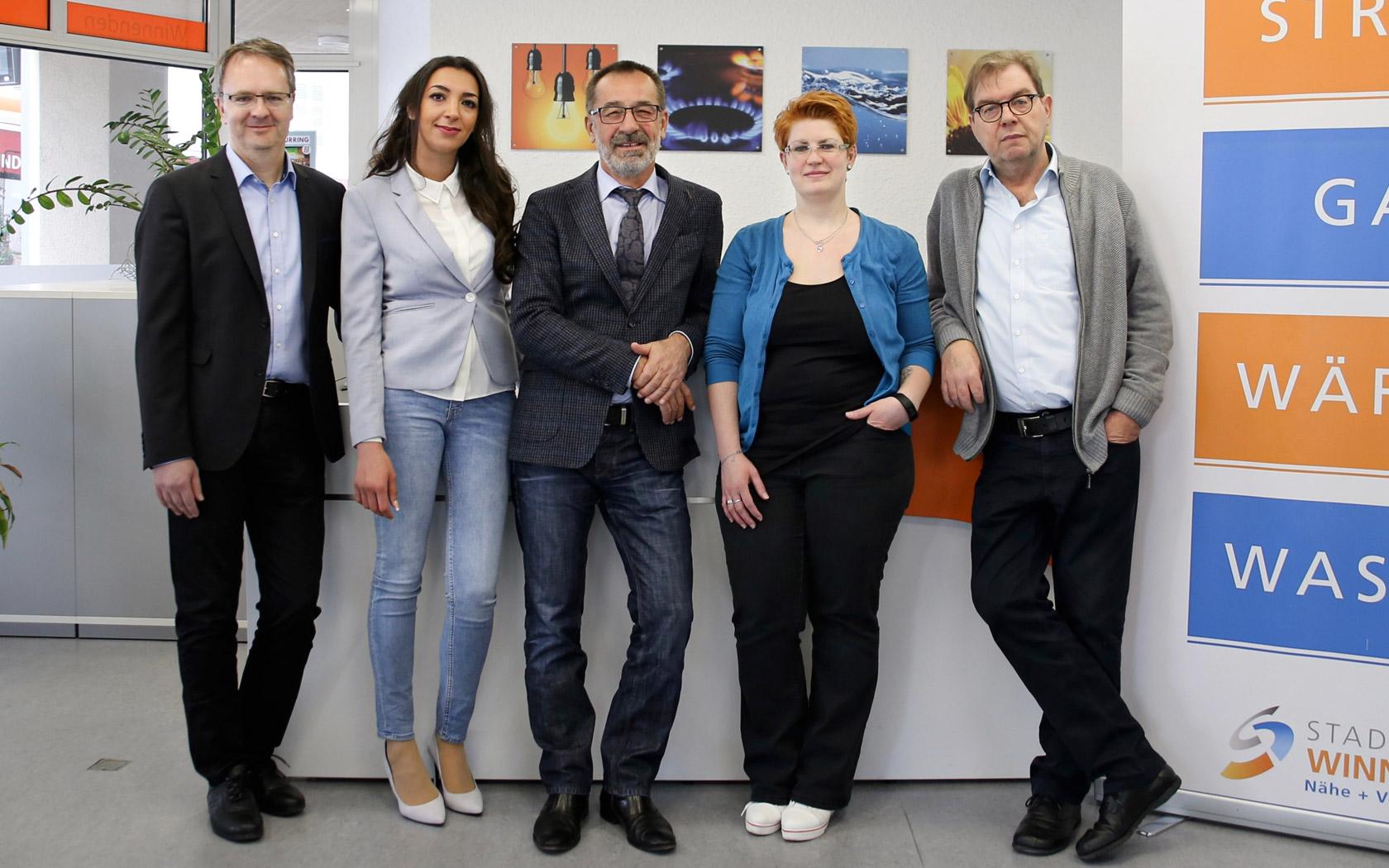 Stadtwerke Winnenden: Regionaler Energieversorger Kundenzentrum Winnenden Team