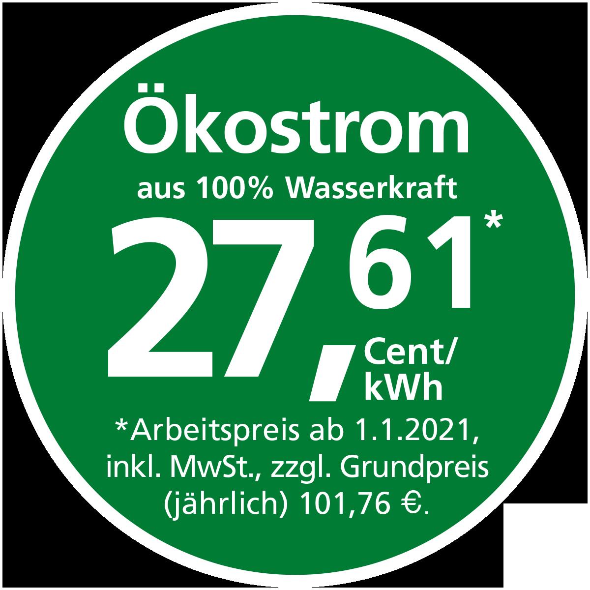 Stadtwerke Winnenden: Ökostrom aus 100% Wasserkraft