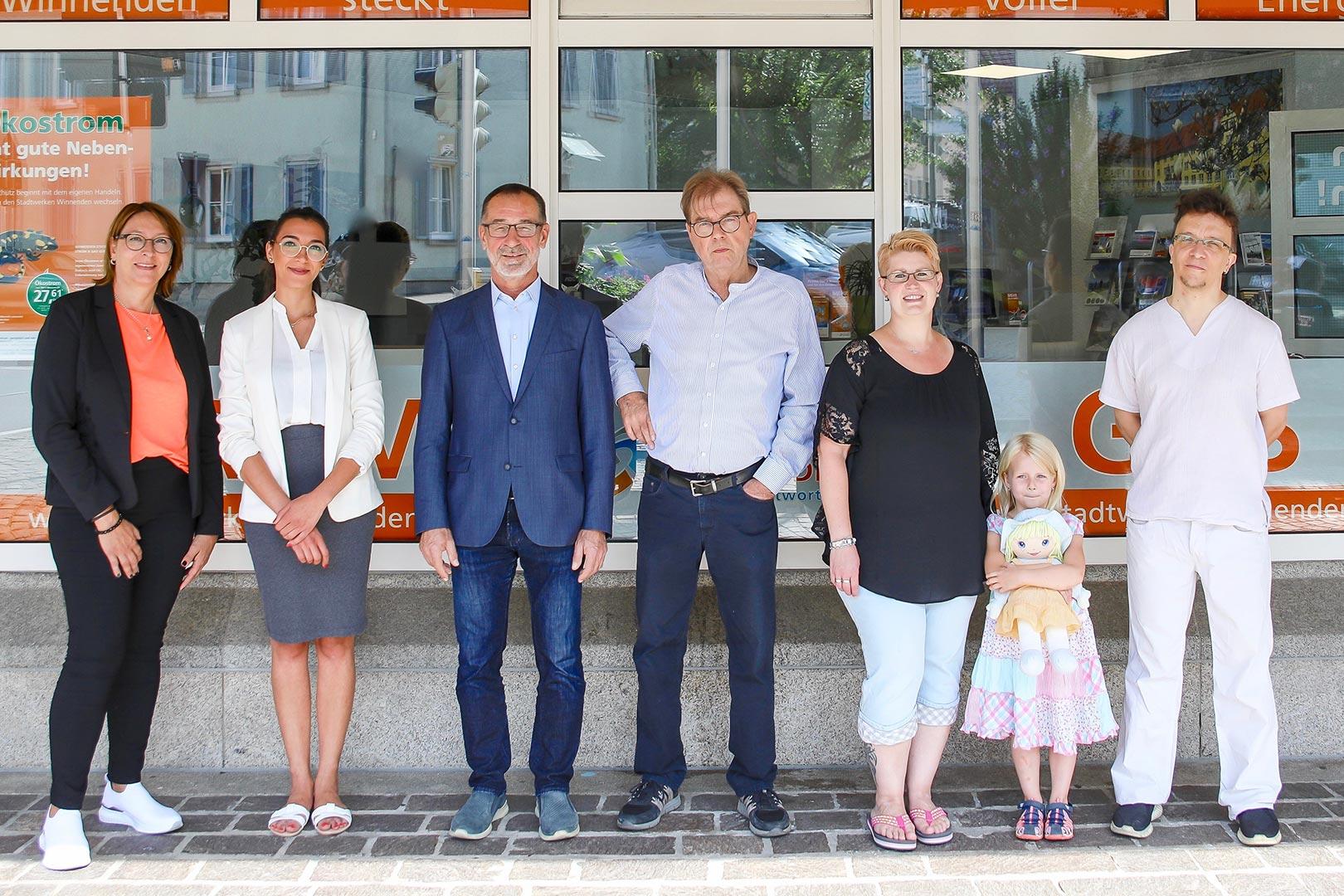 Stadtwerke Winnenden: Teamfoto Kundenzentrum